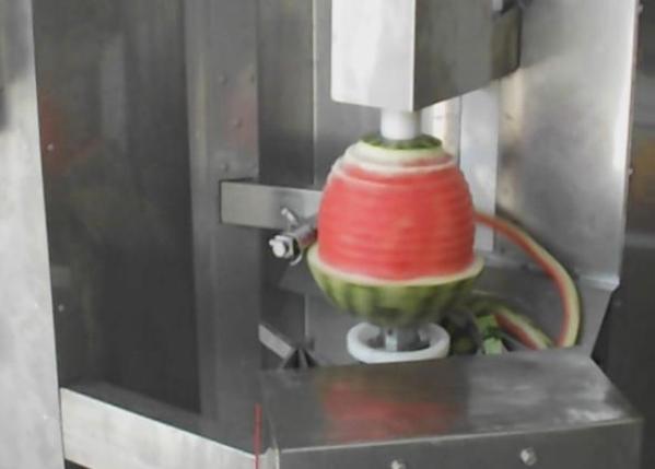 Машина для очистки от кожуры ананаса,  дыни,  арбузов,  тыквы 2